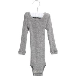 Ull body fra wheat, wool rib Grå - Wheat