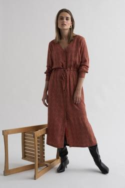 Kaelaki dress dull orange - Kaffe