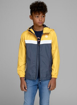 Jack&Jones Junior Jorcott Light Jacket Blå, med gule ermer - Jack&Jones Junior