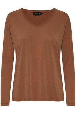 Columbine V-neck mocca matt - Soaked in Luxury