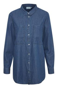 Kasharon long shirt  Blue wash cham - Kaffe