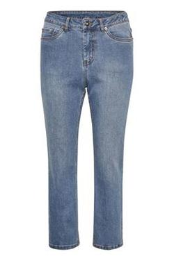 Kadarcy cropped pants Heavy denim wash - Kaffe