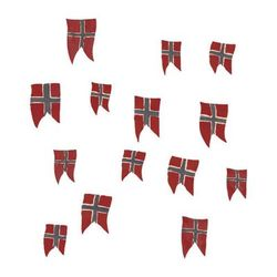 THAT´S MINE WALLSTICKER NORWEGIAN FLAGS Rød - Thats Mine