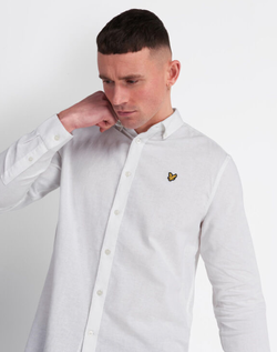 Cotton Linen Shirt Hvit - Lyle&Scott