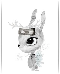 By Christine Hoel - Miniprints - 10x15 cm Deer - Miniprint - 3 for 2 - By Christine Hoel