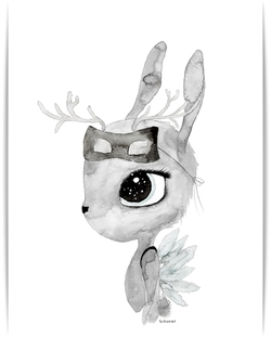 By Christine Hoel - Deer Deer - A3 - By Christine Hoel