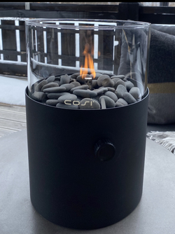 FIRE LANTERN XL BLACK Matt Sort/grå - Trend Collection