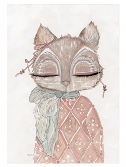 Fox - By Christine Hoel Fox - 10x15 cm miniprint - By Christine Hoel