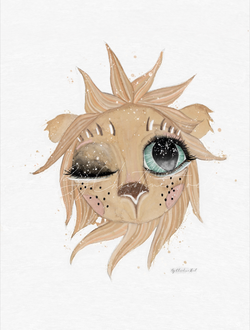 Lion - By Christine Hoel Lion - 10x15 cm miniprint - By Christine Hoel