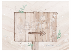 Beach - By Christine Hoel Beach - 10x15 cm Miniprint - By Christine Hoel