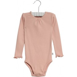 Wheat Body Rib Lace Misty Rose - Wheat