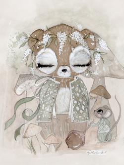 By Christine Hoel - Bear Limited Edition Bear - 30x40 cm - By Christine Hoel