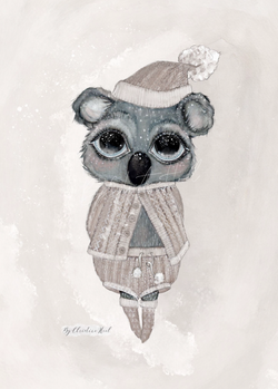 By Christine Hoel - Koala - Limited Edition  Koala - 30x40 cm - By Christine Hoel