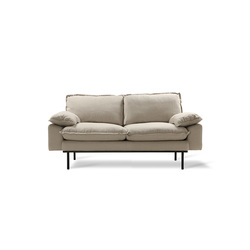 Sofa retro 2-seats cosy beige Beige - HK Living