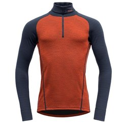Devold Duo Active Zip Neck Brick/Ink - Devold