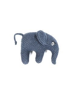 Baby handrangle elefant Blå - Smallstuff
