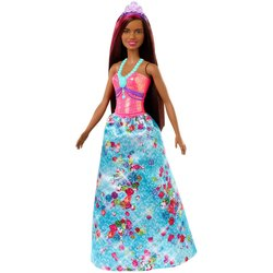 Barbie Dreamtopia Princess Doll - Brunt hår og diamantkjole Flerfarget - Barbie
