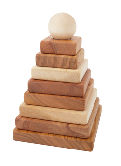 Stablepyramide - natur Natur - Wooden story