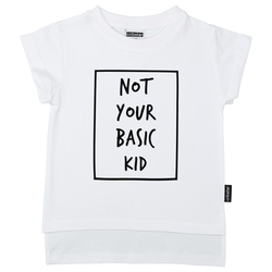 Not your basic kid t-skjorte  Hvit - Cribstar