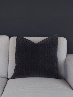 GLOW PUTETREKK VELOUR CHARCOAL Grå - Coming Home