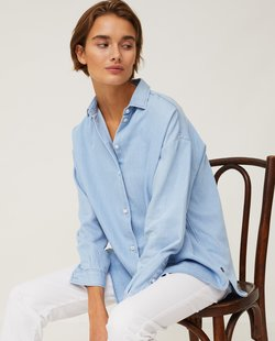 Edith denim tencel shirt  Light blue denim  - Lexington