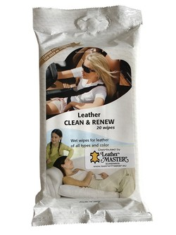 Leather Clean & Renew wipes