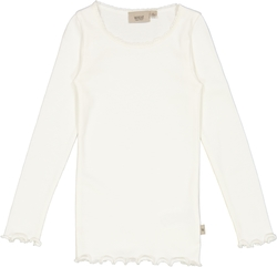 Wheat Rib T-Shirt Lace Ivory - Wheat
