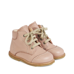 Angulus First Steps lace-up boot, Dusty Peach Dusty Peach - Angulus