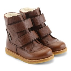 Angulus Tex-boot med velcro straps, red brown Red Brown - Angulus