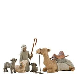 WILLOW TREE SHEPARD AND STABLE ANIMALS ingen - Willow Tree