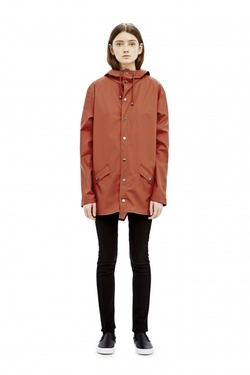 RAINS JACKET RUST - RAINS