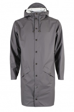RAINS LONG JACKET SMOKE - RAINS