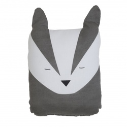 FABELAB ANIMAL CUSHION BOLD BADGER - Fabelab