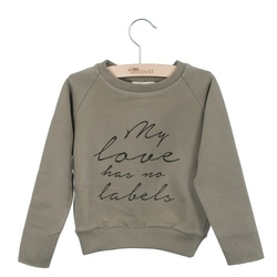 LITTLE HEDONIST SWEATER CECILIA PRINT TAUPE - Little Hedonist