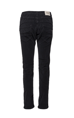 Please Jeans Classic Velour Washed Nero Svart - Please Jeans