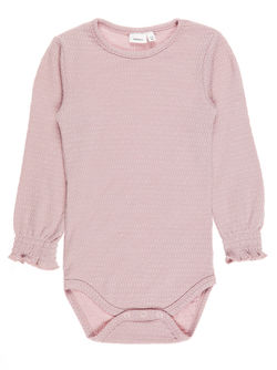 Nitwosa ull/silke body, mini Rosa - Name It