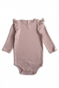 By Heritage, Estelle Body pointelle, solid old Pink Gammel Rosa - By Heritage