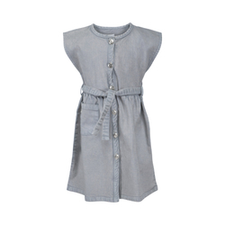 OKKER GOKKER ORGANIC DRESS GRAY DENIM - Okker- Gokker
