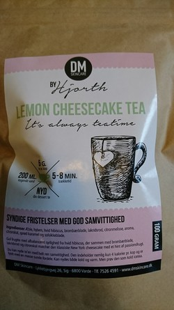 Lemon Cheesecake med lakrids Tea ingen - DM Skincare