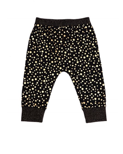 MINIPOP BLACK GOLD DOT PANTS BLACK GOLD DOT - Minipop