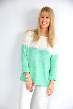 STEEAM TWO COLOURED SWEATER Mint - Steeam