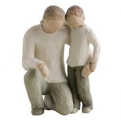 Willow Tree Father & Son Hvit - Willow Tree