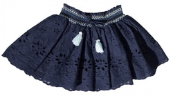 VILJE & VE LOLLO SKIRT GIRL NAVY - VILJE & VE