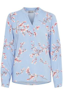 skjorte /bluse fra byoung light blue combi - B.young