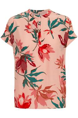 Topp/ Bluse fra soaked in luxury Flamingo coral floral pri - Soaked in Luxury