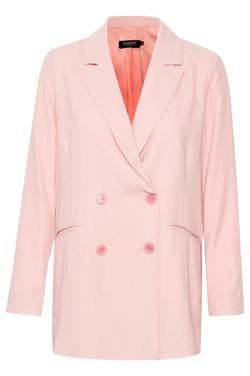 Remi Alfa Blazer silver pink pinstripe - Soaked in Luxury