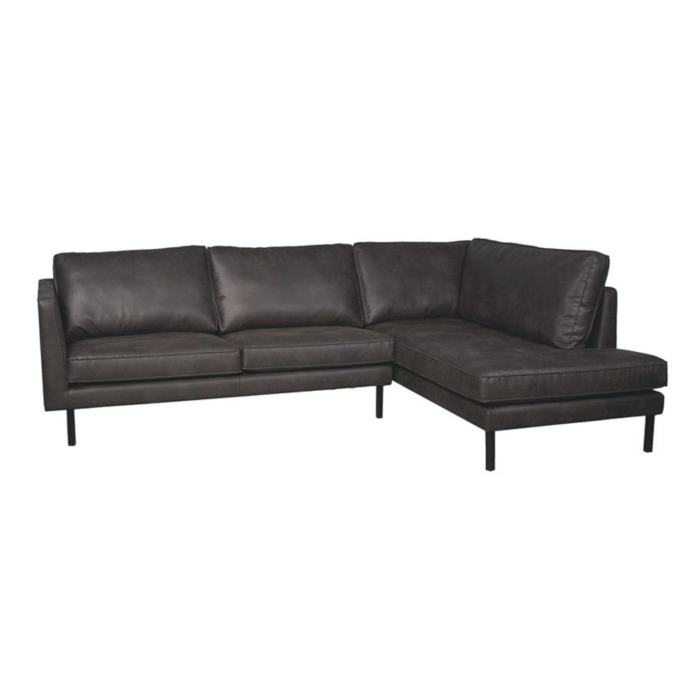 Perugia lounge sofa right Skinn Dark grey - Trend Collection