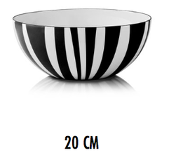 Cathrineholm - Stripes Bowl Sort og hvit - CathrineHolm