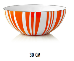 Cathrineholm - Stripes Bowl Orange og Hvit - CathrineHolm
