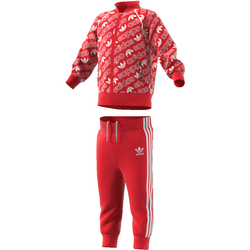 TRACKSUIT ADIDAS ORIGINALS RED/WHITE Rød - Adidas Originals
